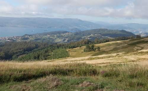 panorámica da ría de Pontevedra desde Outeiro de Campolongo